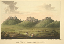 E. view of Bellamkonda Fort. Copy of a sketch made in 1788 by Mackenzie
